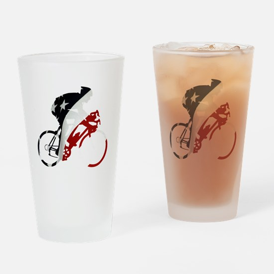 USA Pro Cycling Drinking Glass