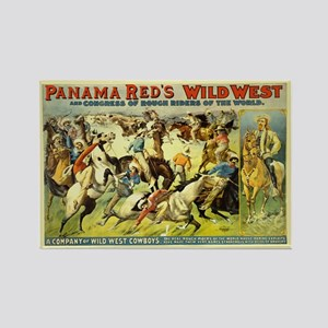 Panama Red's Wild West Cowboys Rectangle Magnet