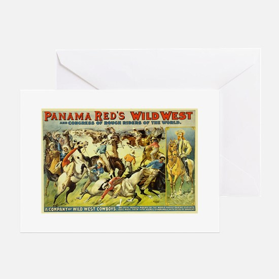 Panama Red's Wild West Cowboys Greeting Card