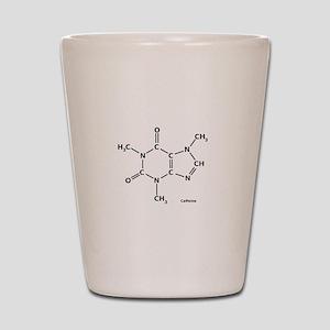 2D Caffeine Molecule Shot Glass