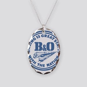 Baltimore and Ohio 13 states r Necklace Oval Charm