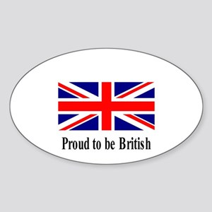 Proud to be British Oval Sticker