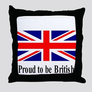 Proud to be British Throw Pillow