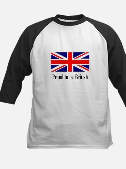 Proud to be British Kids Baseball Jersey