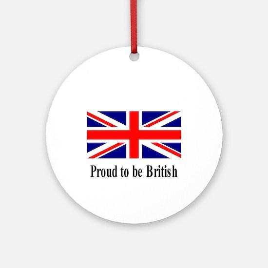 Proud to be British Ornament (Round)