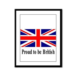 Proud to be British Framed Panel Print