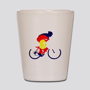 Colorado Cycling Shot Glass