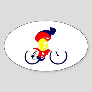 Colorado Cycling Sticker (Oval)