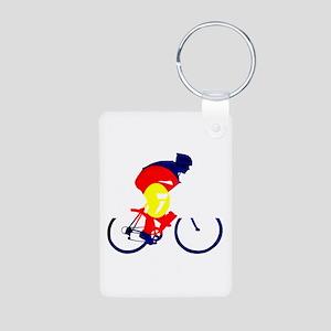Colorado Cycling Aluminum Photo Keychain
