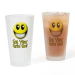 Get Your Grin On Drinking Glass