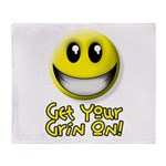 Get Your Grin On Throw Blanket