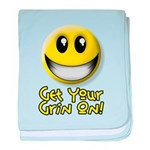 Get Your Grin On baby blanket