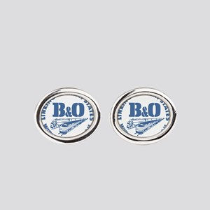 Baltimore and Ohio 13 states railwa Oval Cufflinks