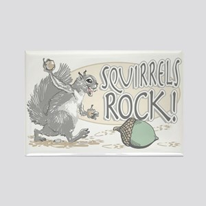 Squirrels Rock Rectangle Magnet