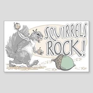 Squirrels Rock Rectangle Sticker