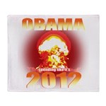 Obama 2012 - End of the World Throw Blanket