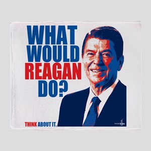 What Would Reagan Do? Design Throw Blanket