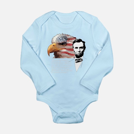 Abraham Lincoln Quote 4 Long Sleeve Infant Bodysui