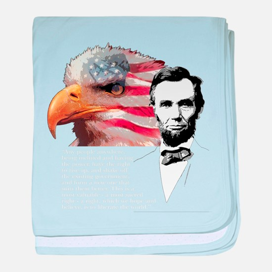 Abraham Lincoln Quote 2 baby blanket
