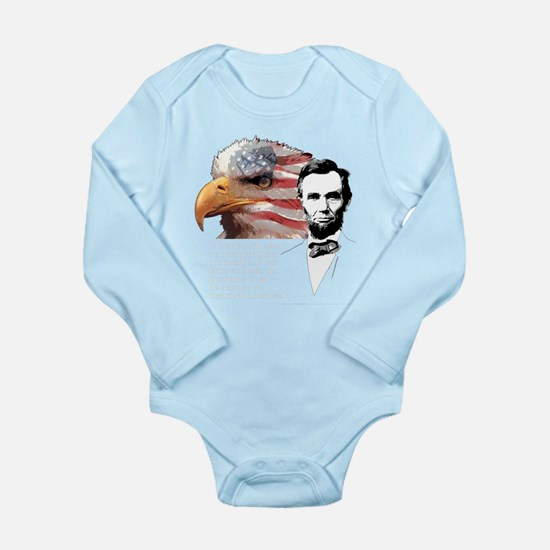 Abraham Lincoln Quote 1 Long Sleeve Infant Bodysui