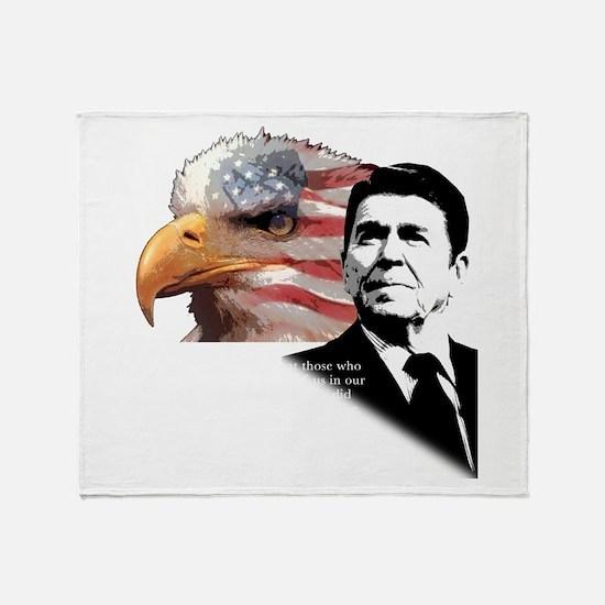 Ronald Reagan Quote 6 Throw Blanket