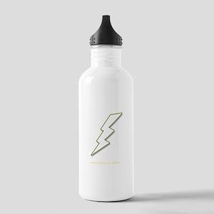 White Lightning No. 5 - Dark Stainless Water Bottl