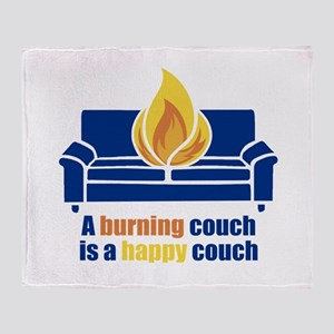 Happy Couch Throw Blanket