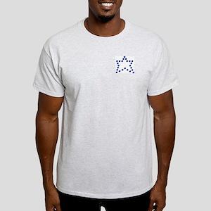 Fake Rhinestone Star Ash Grey T-Shirt