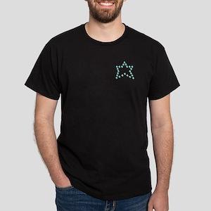 Fake Rhinestone Star Black T-Shirt