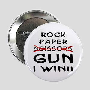 "Rock Paper Scissors Gun I Win 2.25"" Button"