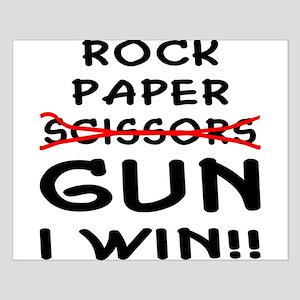 Rock Paper Scissors Gun I Win Small Poster