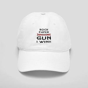 Rock Paper Scissors Gun I Win Cap
