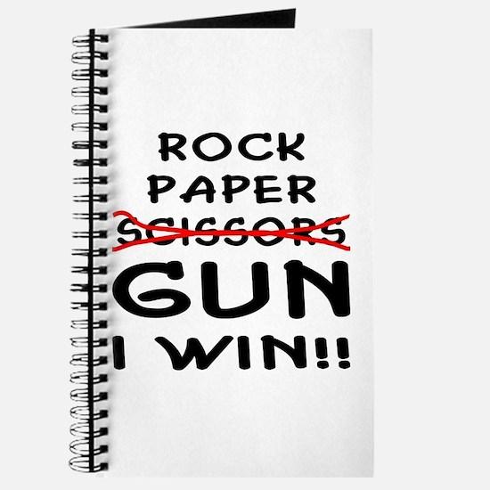 Rock Paper Scissors Gun I Win Journal