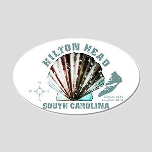 Hilton Head South Carolina 20x12 Oval Wall Decal