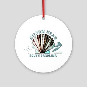 Hilton Head South Carolina Round Ornament