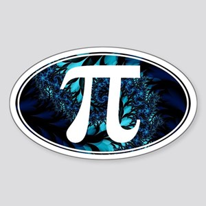 PI Fractals - Oval Sticker