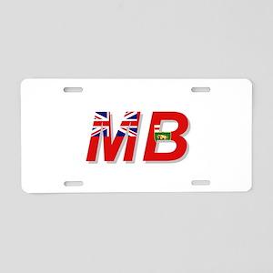 Manitoba MB Aluminum License Plate