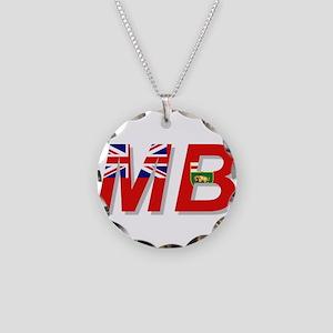 Manitoba MB Necklace Circle Charm