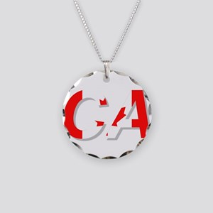 Canada CA Necklace Circle Charm