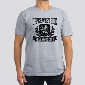 Upper West Side NYC Men's Fitted T-Shirt (dark)