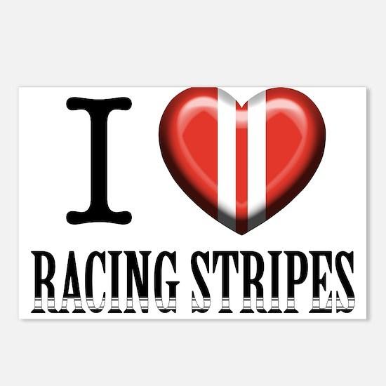 Cute Racing stripes Postcards (Package of 8)