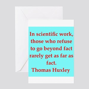 Thomas Huxley quotes Greeting Card
