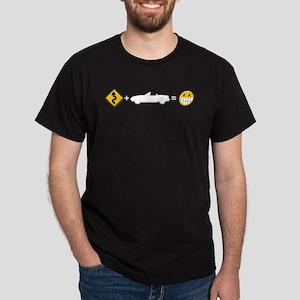Curves + MX-5 = Fun Dark T-Shirt