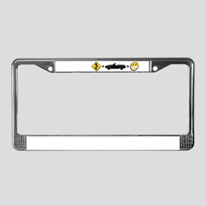 Curves + MX-5 = Fun License Plate Frame