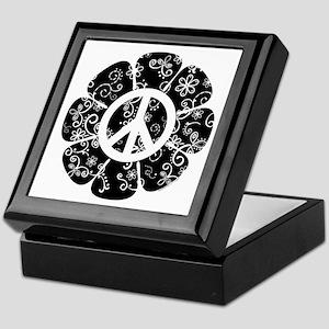 Peace Symbol Flower Keepsake Box
