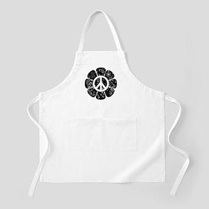 Peace Symbol Flower Apron