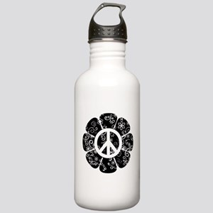 Peace Symbol Flower Stainless Water Bottle 1.0L