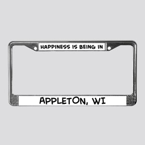 Happiness is Appleton License Plate Frame