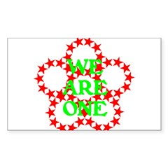 WE ARE ONE III Sticker (Rectangle)