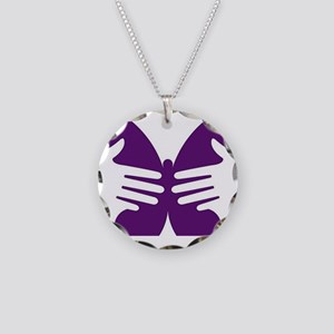 Butterfly Hope Necklace Circle Charm